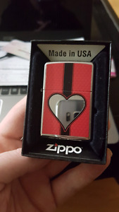 Heart Zippo Lighter, new