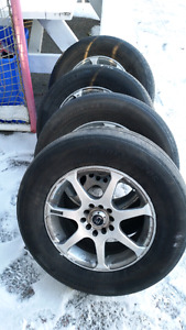 4 All season tires and rims 215/70 R15