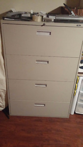 "Filing Cabinet 4 drawers 36"" Wide Excellent Condition"