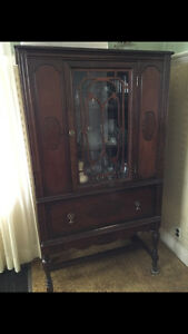 Antique dining room suite-table,chairs,buffet & china cabinet