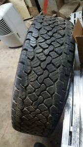 1 only 265 70 R 17 bfg rugged trail T/A