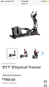 Reduced!!New elliptical only used a few times