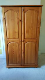 Lovely Solid Pine Wardrobe