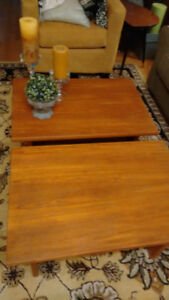2 Teak Side Tables, Coffee Table
