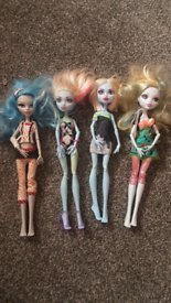 Monster high dolls, postage available