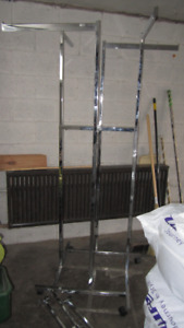 Large Chrome Clothing Rack,w/Lots of Hanging Arms