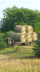 4x4 round bales first cut hay