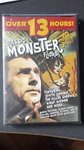 10 CLASSIC MONSTER FLICKS on 3 DVD's 13 HRS