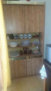 Wooden China Cabinet with Closed Storage