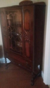 Antique china cabinet with glass door only $100!
