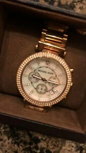 Michael Kors Parker Gold-Tone Watch ** GREAT CONDITION **