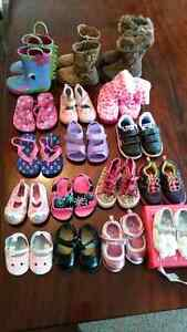 HUGE assortment of like new baby girls clothes and shoes!