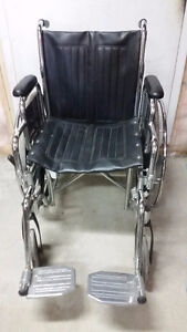 Folding Steel Transport Wheelchair with Full Arms Windsor Region Ontario image 2