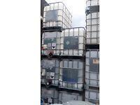 Refurbished 1000 GOOD GRADE IBC Water/Diesel Storage container tanks