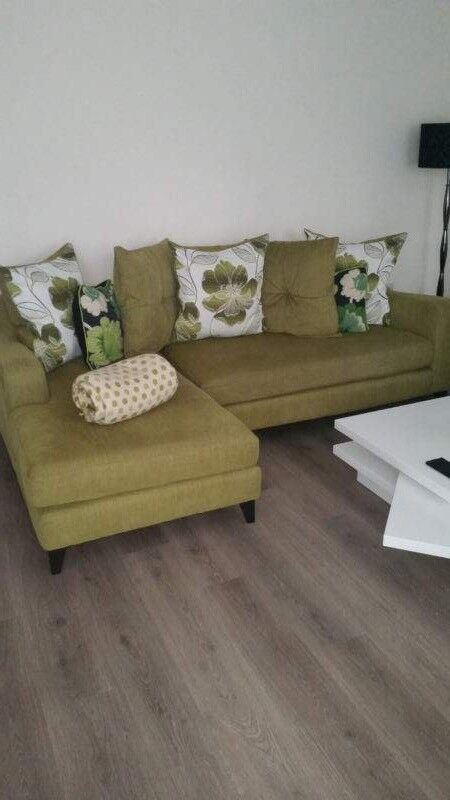 Excellent L Shape Lime Apple Green Sofa For Sale In Horsham West Sussex Gumtree Bralicious Painted Fabric Chair Ideas Braliciousco