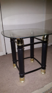 Two Glass Side Tables For Sale