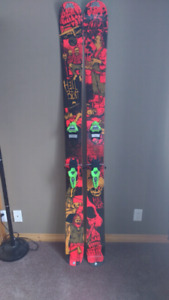 189 cm k2 hell bent skis with marker pros