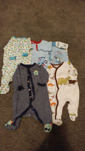 Five size 0-3 Month baby sleepers