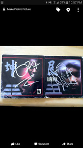 Gza and reakwon autographs