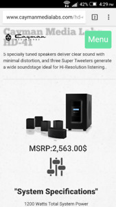 Caymen Home Theater System