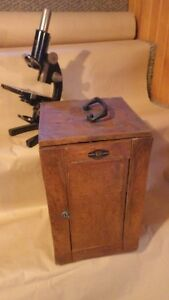 ANTIQUE CARL ZEISS MICROSCOPE AND ACCESSORIES