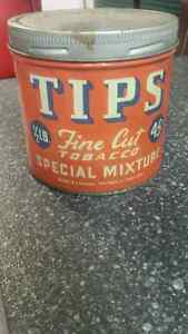 Rare Tips 45 cent tobacco tin