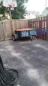 Small haul trailer with wood ramp. Stratford Kitchener Area image 1