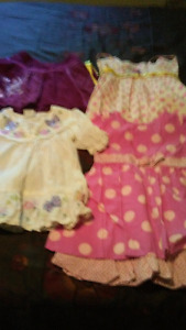 2 mini mouse dresses, embroidered skirt and blouse