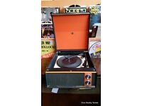 Serviced Vintage/retro 1960s Marconiphone Valve Record Player/ Turn table Ex Sound 6 mths guarantee