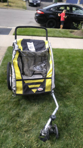 Bell double bike trailer with stroller attachment