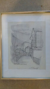 In the Shadow of the Matterhorn - signed Heming
