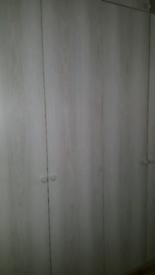 FREE: Laminated Blue Grey Wood Slab Wardrobe doors+handles