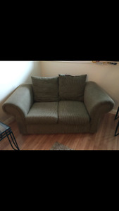 Love seat couch and chair