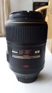 Nikon 105mm Micro f2.8G AF-S VR