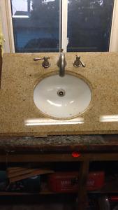 """Granite sink """"31 wide x """"22 deep"""