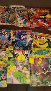1980's superman and spiderman comics 20 dollars