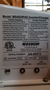MS4024PAE Inverter (charger not working)