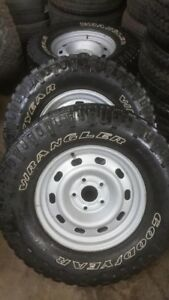 """Dodge Ram 17"""" steel rims and tires"""