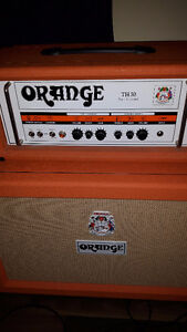 Orange 2x12 V-30s Cab Closed Back Made In The USA Mint!!!!