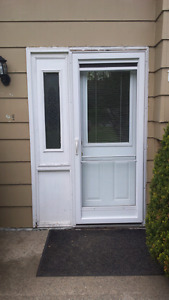 32 steel door with sidelight