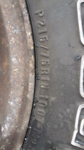 215/75/15 BFG long trail tires