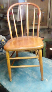 antique round back and square back chairs
