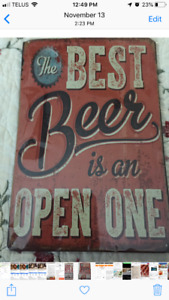New metal signs for sale
