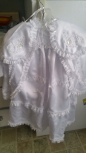 3 piece christening gown 40.00 or best offer
