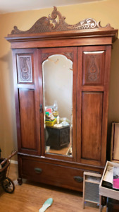 Very Old! 3 peice Antique Dresser, Wash Stand and Wardrobe RARE!