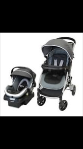 Brand new unopened box car seat and stroller travel system