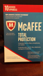 McAfee Total Protection 2017 (PC/Mac/Android/iOS)- 10 Users 1 Yr