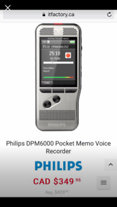 Phillips Digital Pocket Memo Voice Recorder