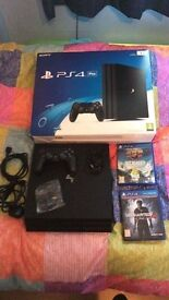 Ps4 pro with 2 games 1 pad and box!!!