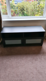 Black TV Stand - 120cm x 54cm x 41cm